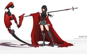 Обои девушка, оружие, коса, RWBY