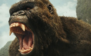 Обои cinema, film, King Kong:, Kong: Skull Island, movie, gorilla, strong, Skull Island