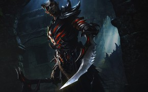 Картинка взгляд, оружие, игра, демон, The Elder Scrolls Legends
