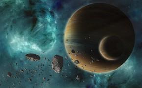 Обои stars, planet, sci fi