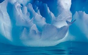 Обои зима, вода, свет, природа, лёд, айсберг, Антарктика