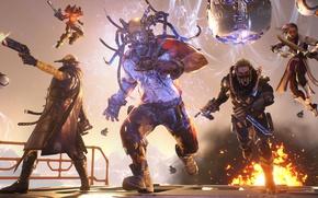 Картинка sword, gun, pistol, weapon, ken, blade, knife, Nexon, dagger, Unreal Engine, Lawbreakers, Boss Key Productions