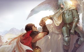 Картинка demon, sword, game, armor, devil, anime, man, ken, blade, Berserk, evil, friends, manga, powerful, strong, …