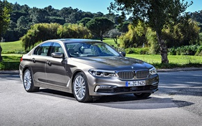 Картинка авто, солнце, тень, BMW, Sedan, шикарный, Luxury, 520d, worldwide