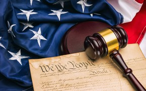 Картинка United States, flag, hammer, constitution