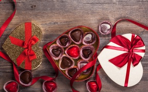 Картинка конфеты, love, heart, romantic, chocolate, sweet, gift, valentine`s day