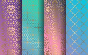 Обои текстура, golden, орнамент, pattern, floral, seamless