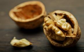 Картинка макро, скорлупа, боке, грецкий орех