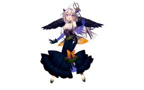 Картинка девушка, фон, аниме, арт, хеллоуин