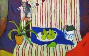 Картинка цветы, натюрморт, 2005, алое, Петяев, зелёные груши