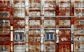 Картинка окна, город, ржавчина, дом