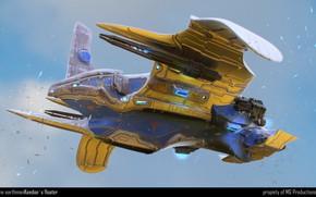 Картинка небо, транспорт, полёт, аппарат, The Earthmen Xterrian luxury ship