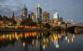 Картинка Город, Небоскребы, Мельбурн