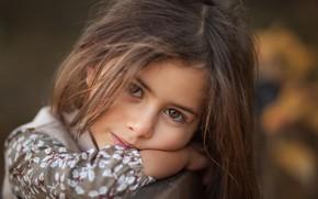 Картинка взгляд, лицо, портрет, девочка, Salih Gökduman