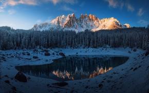 Картинка снег, горы, Италия, Доломитовые Альпы