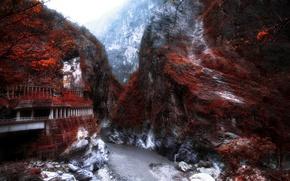 Картинка дорога, горы, река
