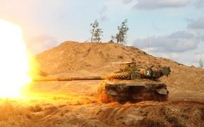 Обои боевой танк, Т-72, выстрел, основной