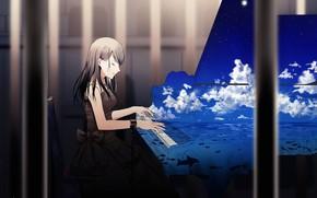 Картинка музыка, аниме, арт, пианино