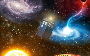 Картинка космос, планеты, сериалы, доктор кто, тардис