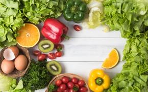 Картинка зелень, Овощи, фрукты, цитрусы