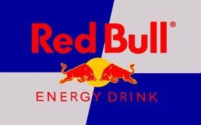 Картинка логотип, Red Bull, торговая марка, энергетический напиток