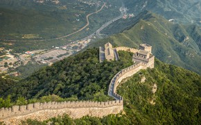 Картинка зелень, лес, великая китайская стена