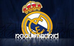 Картинка wallpaper, sport, logo, football, Real Madrid CF
