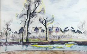 Картинка 1933, Charles Ephraim Burchfield, Mid-April Landscape