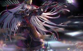 Картинка moon, game, anime, night, fight, asian, warrior, japanese, oriental, asiatic, bishojo, light novel, Re.Creators, Re. …