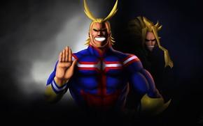 Картинка anime, power, hero, hand, manga, sensei, powerful, strong, yuusha, super hero, japonese, Boku no Hero …