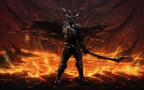 Обои bakemono, oni, blade, sword, ken, evil, armor, devil