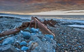 Обои камни, обломки, берег, Камбрия, Англия