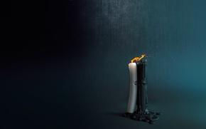Картинка настроение, пламя, встреча, чувства, свеча, арт, Candles, Nikita Veprikov