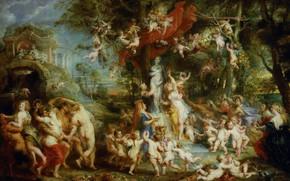 Картинка картина, Питер Пауль Рубенс, мифология, Pieter Paul Rubens, Праздник Венеры