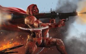 Картинка оружие, огонь, плащ, экипировка, Codename OSCAR