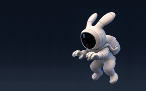 Картинка скафандр, арт, зайчик, Rocket Rabbit, Brice Laville Saint-Martin
