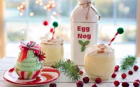 Картинка праздник, новый год, коктейль, крем, кекс