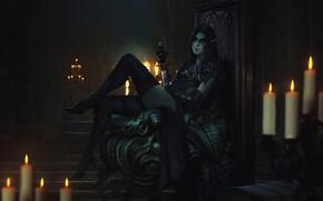 Картинка девушка, ноги, эльфийка, персонаж, The Elder Scrolls Legends