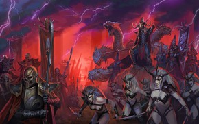 Картинка Total war warhammer 2, Darck Elves, malekith