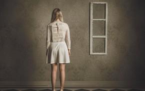 Картинка девушка, фантазия, спина, платье, гвоздь, Rules of Vanity, Petri Damstén
