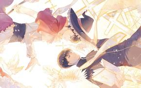 Картинка аниме, арт, парни, костюмы, Osomatsu-san