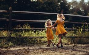 Обои танец, настроение, девочки