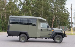 Картинка made in Brazil, Agrale, military and civil vehicle, manufactured in Santa Catatarina, export type product, …