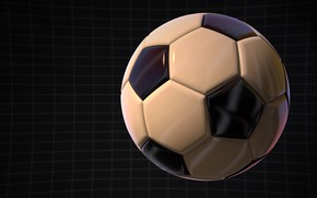 Обои футбол, графика, мяч