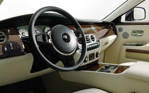 Картинка Rolls-Royce, руль, салон, 200EX