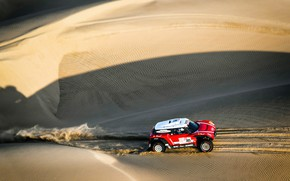 Картинка Песок, Mini, Спорт, Пустыня, Скорость, 302, Rally, Dakar, Дакар, Ралли, Дюна, Buggy, Багги, X-Raid Team, ...
