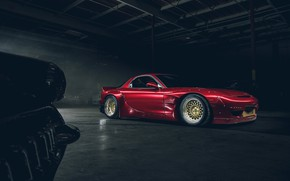 Картинка Mazda, Red, Front, RX-7, Rocket, Bunny