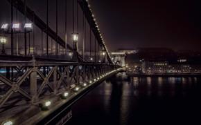 Картинка ночь, Budapest, Chain Bridge
