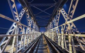 Картинка мост, дизайн, рельсы