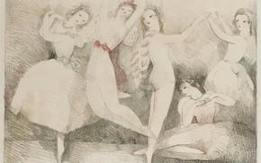 Картинка танцы, Праздник, 1937, Модерн, литография, Marie Laurencin